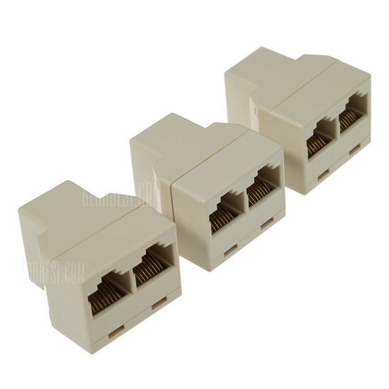 offertehitech-3pcs / Pack CAT5 Ethernet Cable LAN 1 to 2 Splitter Adapter