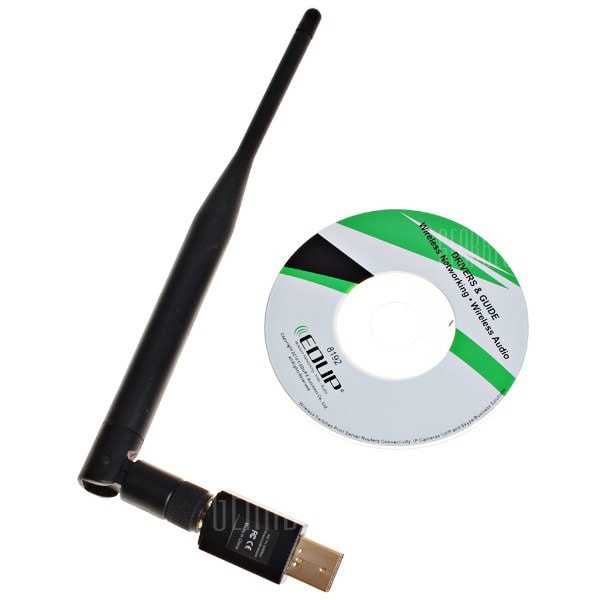 offertehitech-High Quality EP-MS1537 Mini High Power 802.11N 300Mbps USB Wireless WiFi Adapter Network Card