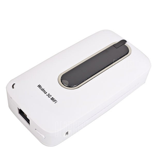 offertehitech-I10 3000mAh Fashionable Mobile Power Bank Cuboid Filleted Corner Style 3G Wireless Router