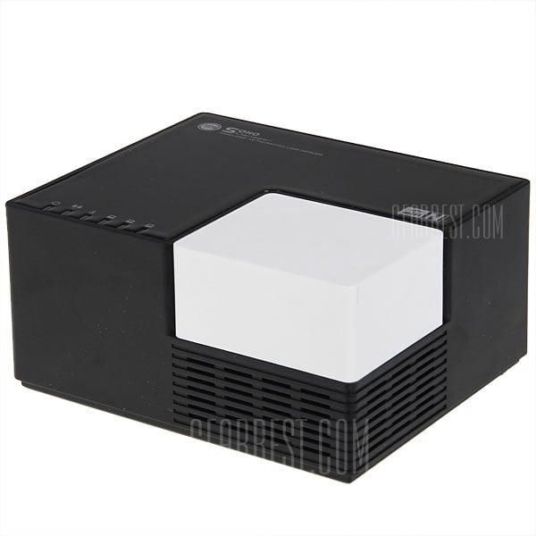offertehitech-Wireless-N High Power 300Mbps Nnetworking Mini 4 USB2.0 Port Server - Black with White
