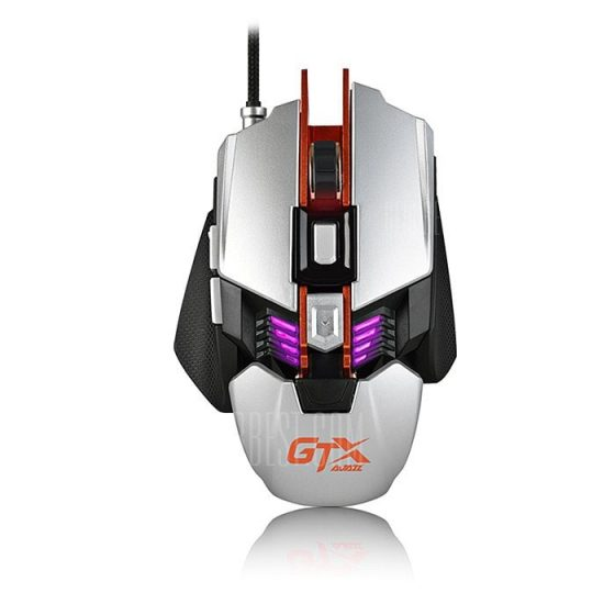 italiaunix-Ajazz GTX LOL Metal Gaming Mouse Colorful Breathing Light