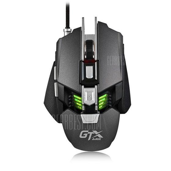 italiaunix-Ajazz GTX LOL Metal Gaming Mouse Colorful Breathing Light