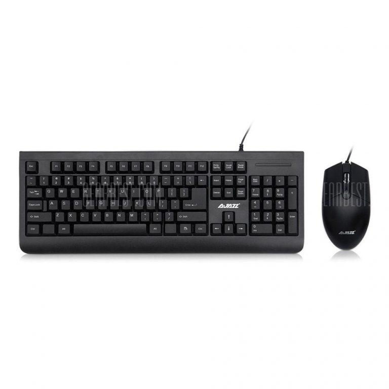 italiaunix-Ajazz x1180 Wired Metal Membrane Keyboard with Mouse  Gearbest