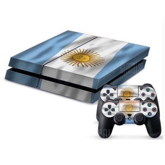 italiaunix-Argentine Flag Style Game Console Gamepad Controller Stickers Skin for PS4