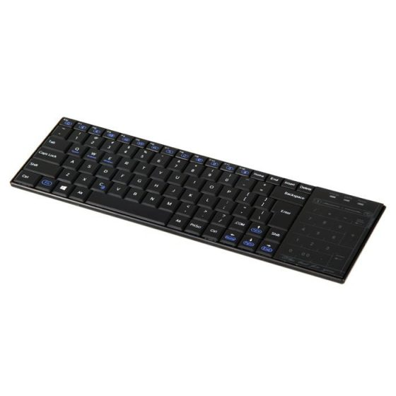 italiaunix-BT10 Bluetooth Wireless Keyboard with Numeric Keypad / Mouse Switch Touchpad