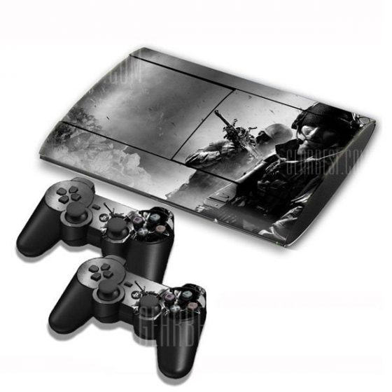 italiaunix-Call of Duty Style Game Console Gamepad Controller Stickers Skin for PS3 Slim 4000