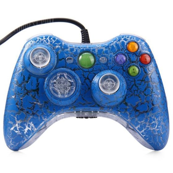 italiaunix-Crackle Style Wired Gamepad Controller for PC XBOX 360