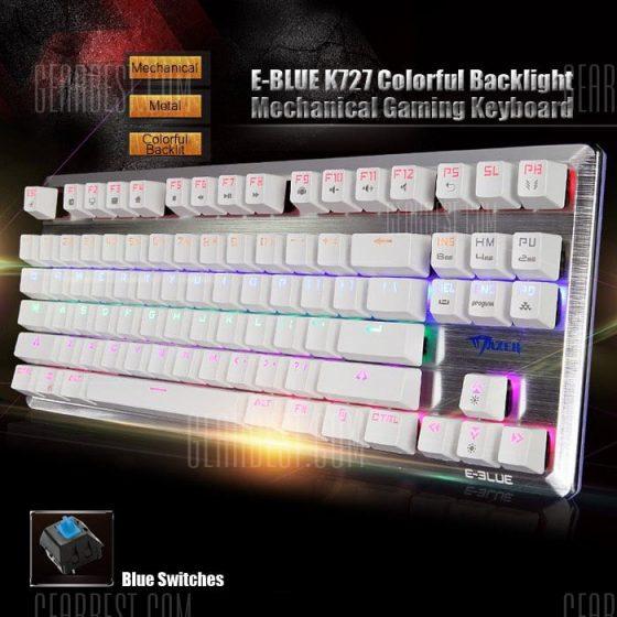italiaunix-E - 3LUE K727 NKRO Gaming Mechanical Keyboard with Blue Switch