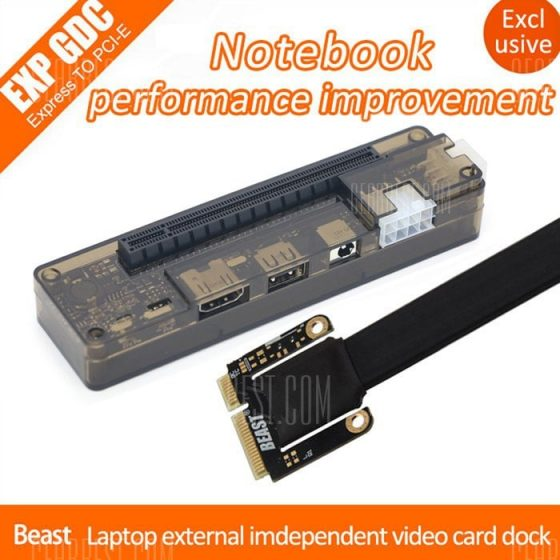 italiaunix-EXP GDC Beast Laptop External Independent Video Card Dock + Mini PCI-E Cable for Apple / DELL / HP / Lenovo / Asus / Hasee