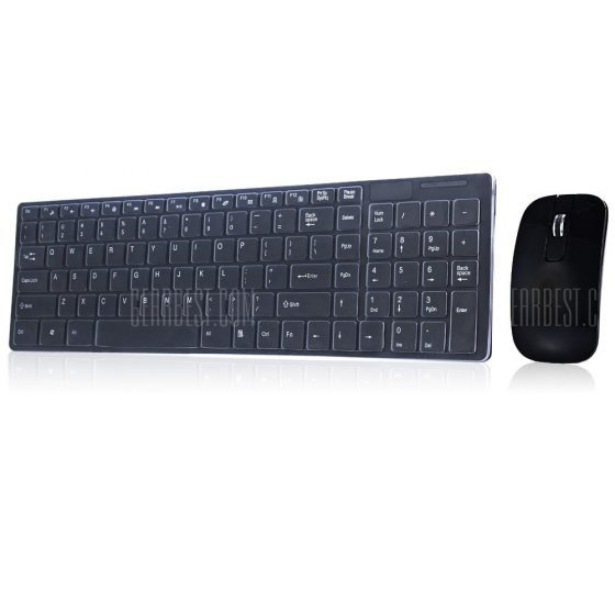 italiaunix-HK3600 2.4G Wireless Keyboard / Mouse Combo with Numeric Keypad  Gearbest