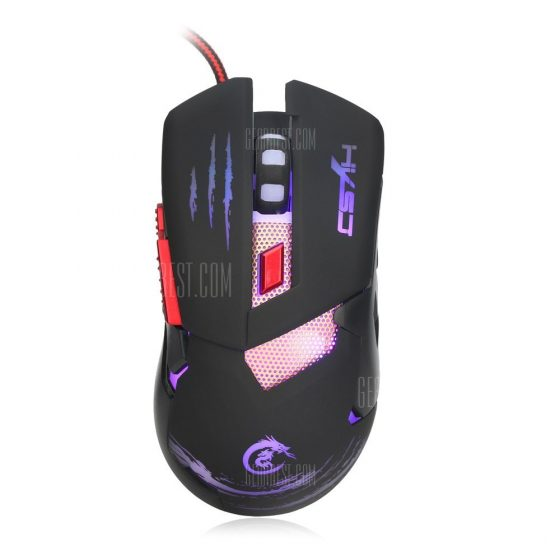 italiaunix-HXSJ H400 Wired LED Game Mouse with Six Buttons