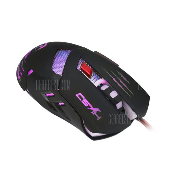 italiaunix-HXSJ H400 Wired LED Game Mouse with Six Buttons  Gearbest