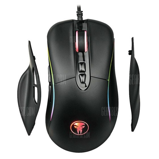 italiaunix-M98 Wired Gaming Mouse RGB Breathing Light 4000DPI