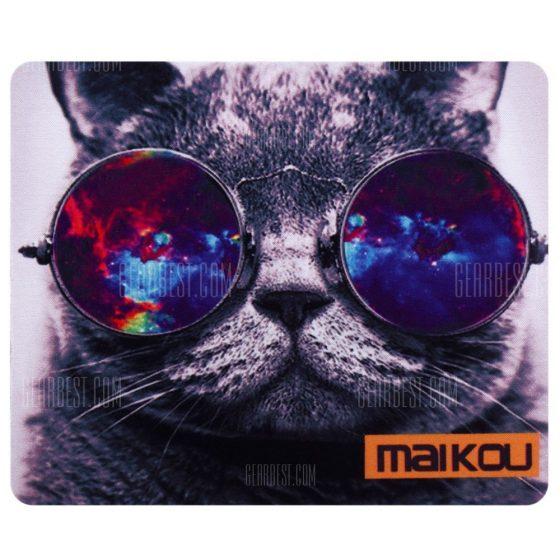 italiaunix-Maikou Mouse Pad Cat Wears Eyeglasses
