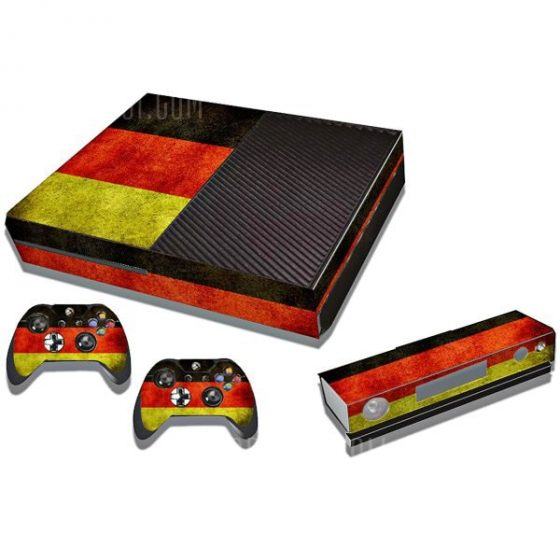 italiaunix-Protective Game Player and Controller Skin Sticker with Germany Flag Pattern for Xbox One