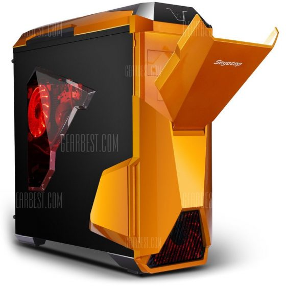 italiaunix-Segotep Warship EVO Mid Tower Gaming Computer Case Support E-ATX ATX M-ATX ITX Motherboard