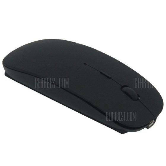 italiaunix-Slim Rechargeable Bluetooth Wireless Mouse Ultra-Slim Mice for Notebook PC Laptop Computer Windows / Android Tablet Mac