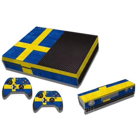 italiaunix-Sweden Flag Pattern Style Game Console Gamepad Decal Sticker for Xbox One  Gearbest