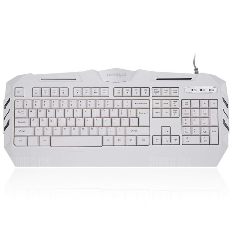 italiaunix-Warwolf K3 Wired Optical Gaming Keyboard with LED Backlit  Gearbest