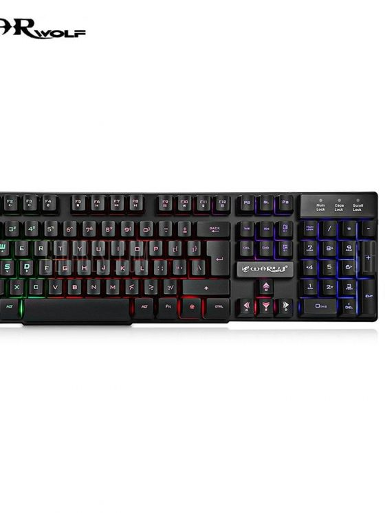 italiaunix-Warwolf KM - 001 Wired Keyboard Mouse Suit LED Backlight