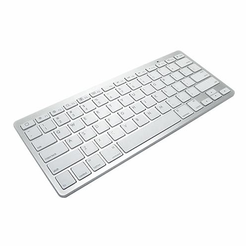 italiaunix-801D Wireless Keyboard Bluetooth 3.0 Portable Durable Universal Long Battery Life For Android Box Smart TV Windows Android iOS - Silver