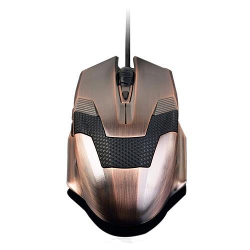 italiaunix-Ajazz Wired Ergonomic Mouse With Backlight 6 Buttons Adjustable DPI 800 1200 2000 DPI - Bronze