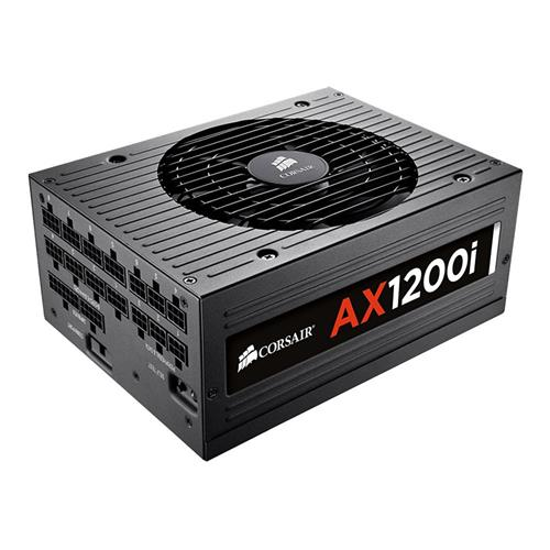 italiaunix-CORSAIR AX1200i 1200W Fully Modular Digital Power Supply 80 Plus Platinum Certified - Black