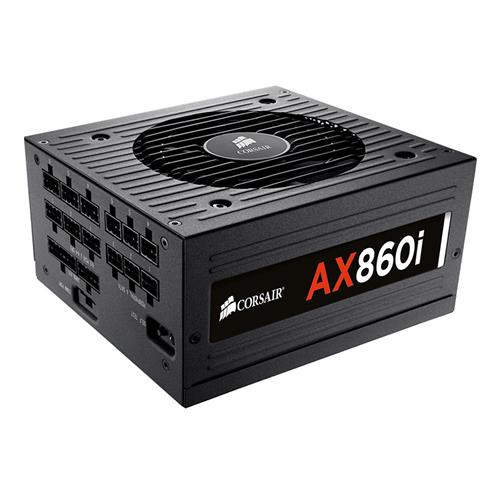 italiaunix-CORSAIR AX860i 860W Fully Modular Digital Power Supply 80 Plus Platinum Certified - Black