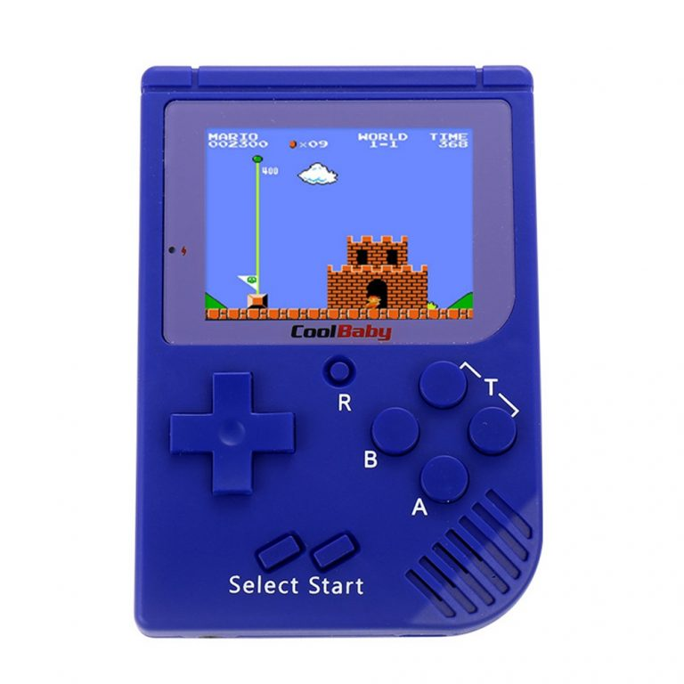 italiaunix-Coolbaby RS-6 Mini Retro Handheld Game Console 2.5 inch LCD Built-in 129 Games - Blue