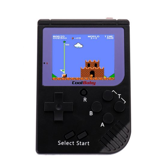 italiaunix-Coolbaby RS-6 Mini Retro Handheld Game Console 2.5 inch LCD Built-in 129 Games - Black