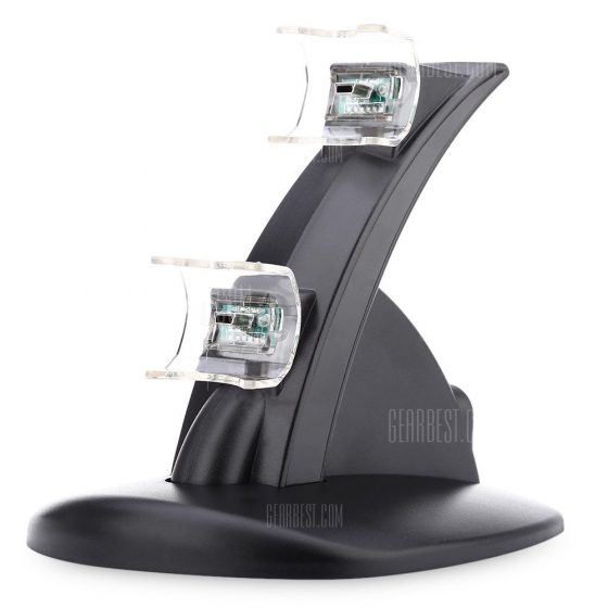 italiaunix-Dual Micro USB Charging Charger Stand for PS3 Joystick