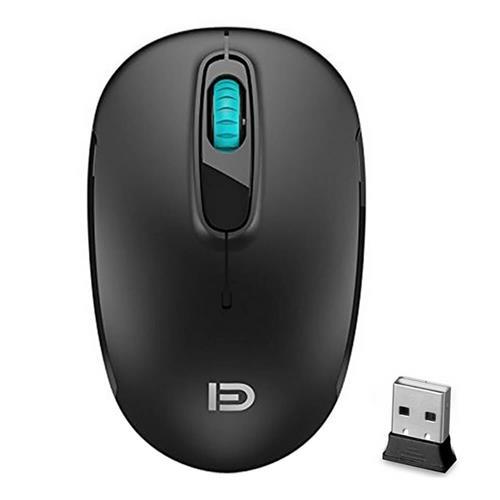 italiaunix-FUDE V2c 2.4GHz Wireless Mouse Silent Click Optical Mice 1600DPI - Black