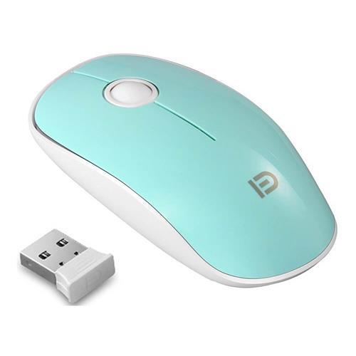 italiaunix-FUDE V8 2.4GHz Wireless Ultra Thin Mouse Compact Soundless Mice 1500DPI - Green