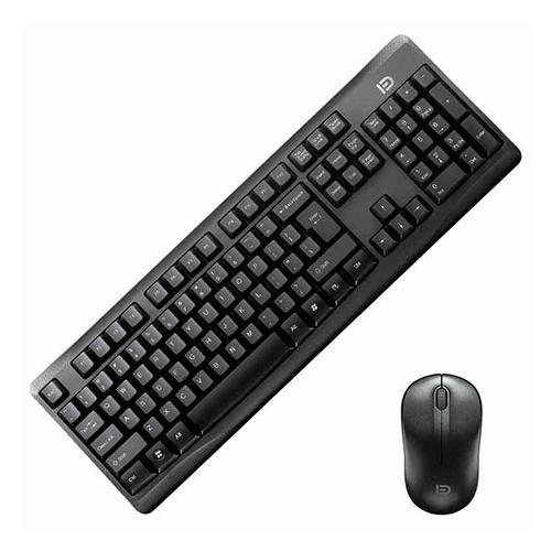 italiaunix-G9100C Wireless Keyboard + Mouse Kit for Desktop QWERTY 107 Keys 36 Months Standby - Black