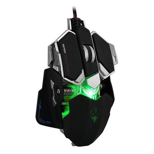 italiaunix-Luom G10 Avago A5050 Wired Programmable Mechanical Gaming Mouse With 2 Side Buttons Adjustable DPI 800/1600/2400/3200 - Black