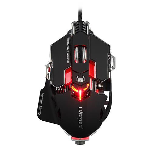 italiaunix-Luom G10S Avago A5050 Wired Programmable Mechanical Gaming Mouse With 2 Side Buttons Adjustable DPI 800/1600/2400/3200 - Black