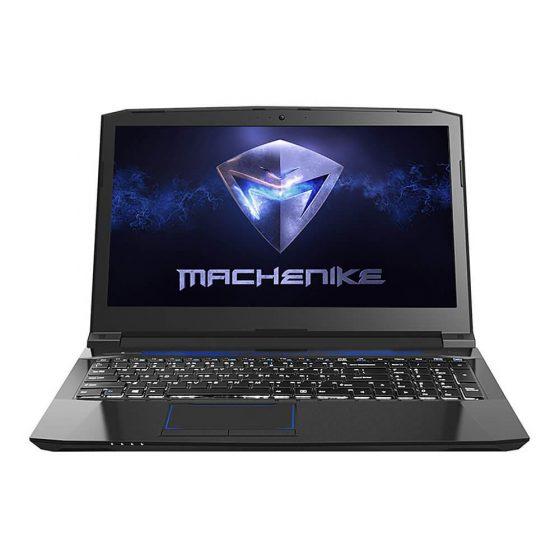 italiaunix-Machenike T58-T1 15.6 Inch Gaming Laptop DOS GTX1050 4G Intel Core I7-7700HQ Quad Core 8GB DDR4 1TB HDD - Black