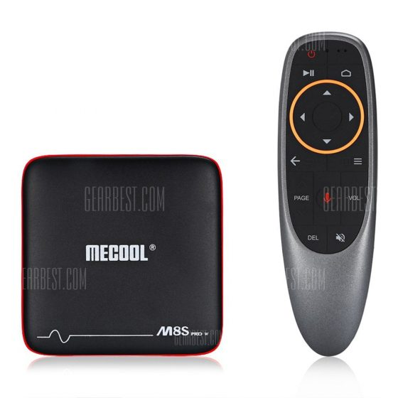 italiaunix-Mecool M8S PRO W 2.4G with Andriod TV OS Support Voice Control TV Box