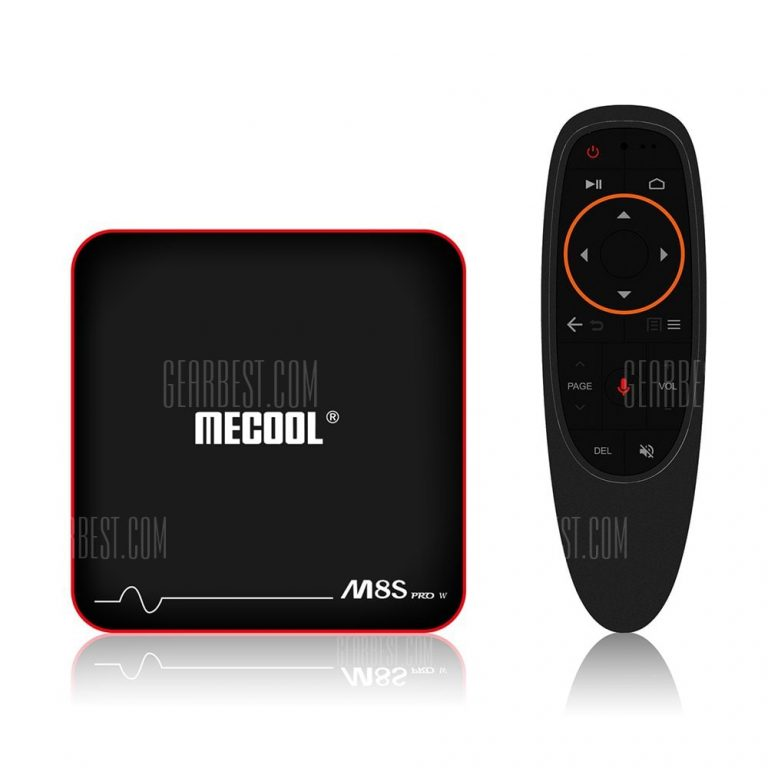 italiaunix-Mecool M8S PRO W 2.4G with Andriod OS Support TV Box  Gearbest