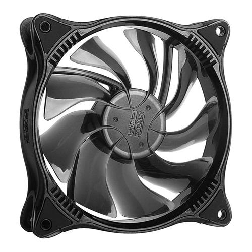 italiaunix-PCCOOLER  LED Desktop CPU Cooler Fan RGB Dimmable  7 Color 6 Light Effect Non-volatile Memory Function 120mm LED Fan - Black