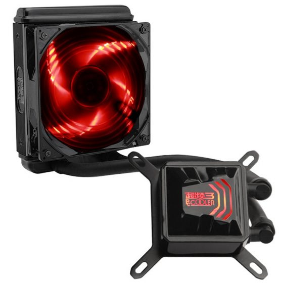 italiaunix-Pccooler Billow 120 CPU Water Cooling Fan Temperature Controller With LED Red Light 120mm Fan - Red + Black