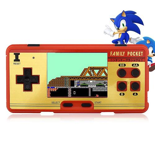 italiaunix-Portable Handheld Game Player Built in 638 Classic Games 8 Bit Retro Video Game Console Support AV Output - Red