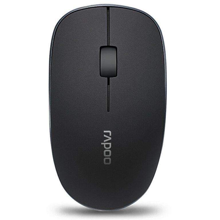 italiaunix-Rapoo 3500PRO 2.4G Wireless Optical Mouse 1000DPI Nano Port 10M Transmittance Small Size - Grey