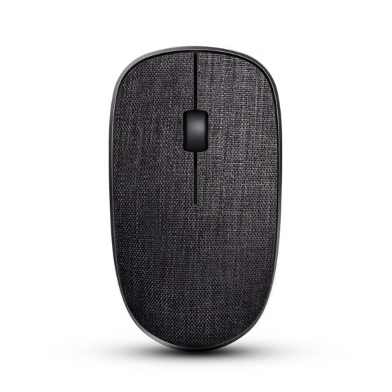 italiaunix-Rapoo 3500Pro 2.4G Wireless Optical Mouse Stylish Cloth Pattern 1000DPI Nano Port Small Size - Black