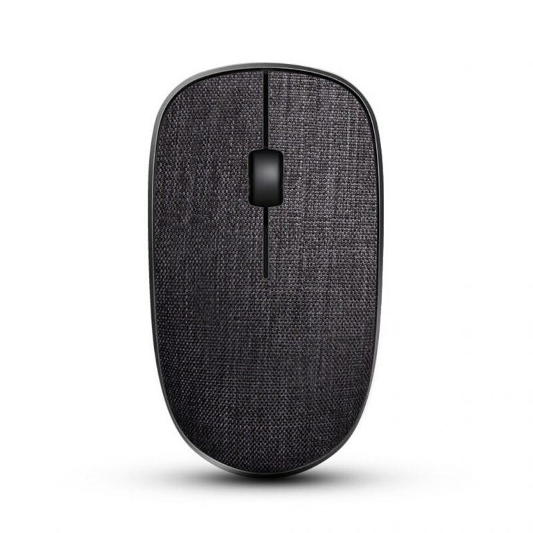 italiaunix-Rapoo 3500Pro 2.4G Wireless Optical Mouse Stylish Cloth Pattern 1000DPI Nano Port Small Size - Black