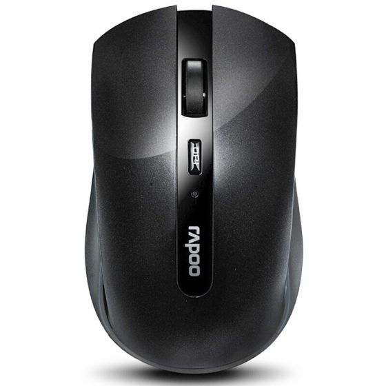 italiaunix-Rapoo 7200P 2.4G Wireless Optical Mouse 500/1000 DPI With Nano Port Small Size - Black