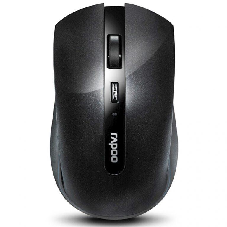 italiaunix-Rapoo 7200P 2.4G Wireless Optical Mouse 500/1000 DPI With Nano Port Small Size - Black