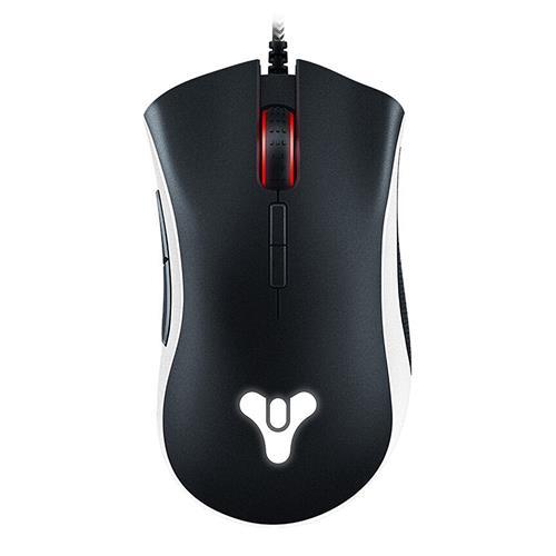 italiaunix-Razer DeathAdder Elite Destiny 2 Edition Ergonomic Gaming Mouse Multi-Color Precise Sensor Comfortable Grip With Side Buttons - Black