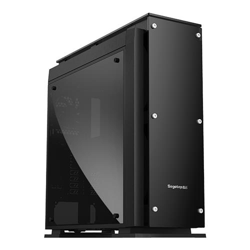 italiaunix-Segotep T5 USB 3.0 Computer Case PC Mainframe Support ATX E-ATX M-ATX MINI-ITX 8 Card Slots - Black