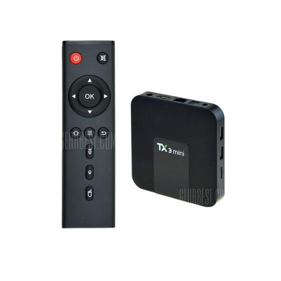 italiaunix-TX3 mini Smart Box Android 7.1 2GB RAM 16GB HD 4K Media Player  Gearbest